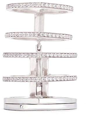 Repossi 'Antifer' diamond pavé 18k white gold six row linked ring