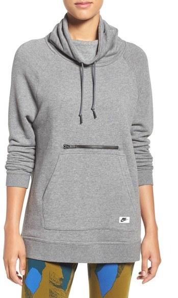 Nike 'Modern Funnel' Fleece Pullover