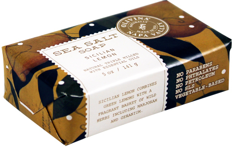 Olivina Sicilian Lemon Sea Salt Soap