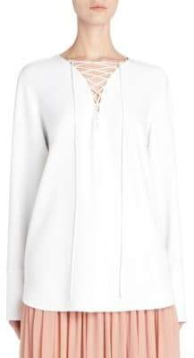 Stella McCartney Cadet Lace-Up Stretch Tunic