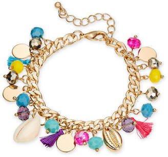 INC International Concepts I.n.c. Gold-Tone Multi-Style Charm Bracelet, Created for Macy's