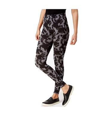 Hue First Looks By Floral-Print Leggings Black Large-X-Large