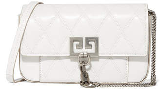 10aed0930d Givenchy Pocket Mini Quilted Leather Shoulder Bag - White