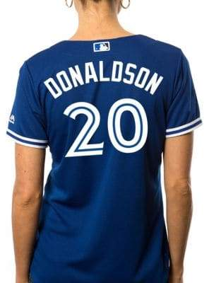 Majestic Ladies Josh Donaldson Toronto Blue Jays Cool Base Replica Away Jersey