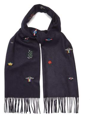 Gucci Embroidered print scarf