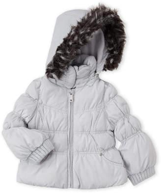 Hawke & Co Infant Girls) Faux Fur Trim Puffer Jacket