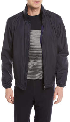 Z Zegna Zip-Front Jacket with Packaway Hood