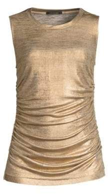 Alice + Olivia Kobi Halperin Paige Metallic Sleeveless Top