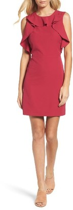 Women's Chelsea28 Ruffle Sheath Dress $139 thestylecure.com