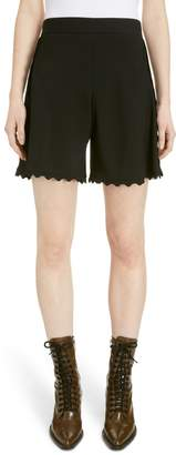 Chloé Scallop Trim Cady Shorts