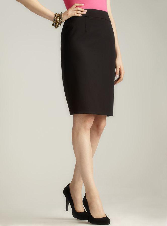 Calvin Klein Back Slit Black Pencil Skirt