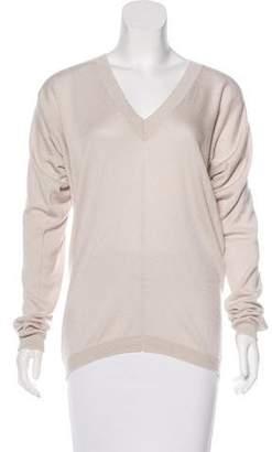 The Row Long Sleeve V-Neck Sweater