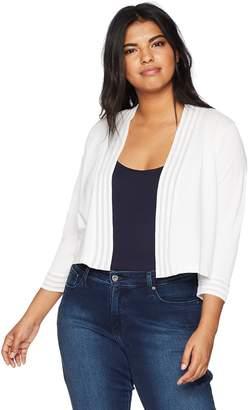 08894676daf Calvin Klein Women s Plus Size Shrug with Sheer Trim