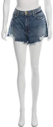 The Great Distressed Cut-Off Mini Shorts w/ Tags