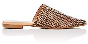 Barneys New York WOMEN'S WOVEN LEATHER MULES SIZE 11