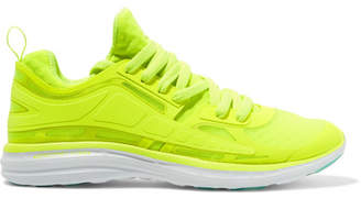APL Athletic Propulsion Labs - Prism Neon Mesh Sneakers - Bright yellow $195 thestylecure.com