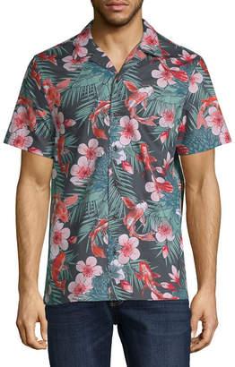 Jf J.Ferrar Mens Short Sleeve Camp Shirt-Slim