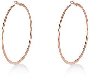 River Island Rose gold tone flat hoop earrings