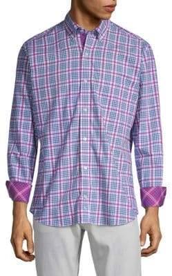 Tailorbyrd Plaid Woven Button-Down Shirt