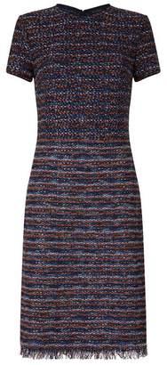 St. John Fringed Tweed Dress
