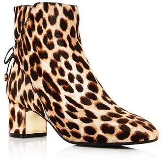 Tory Burch Laila Leopard Print Calf Hair Booties