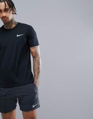 Nike Running Miler Dri-Fit T-Shirt In Black 833591-010