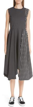 Paskal Dot Print Sleeveless Fit & Flare Dress