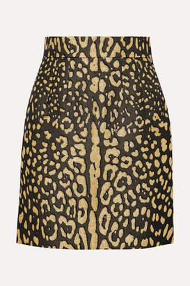 Dolce & Gabbana Brocade Mini Skirt - Leopard print