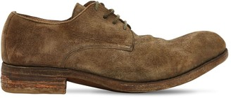 A Diciannoveventitre HANDMADE REVERSE LEATHER DERBY SHOES