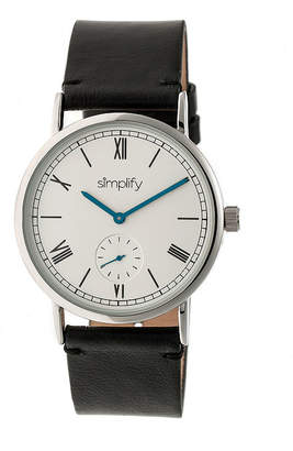 Simplify Mens Black Strap Watch-Sim5101