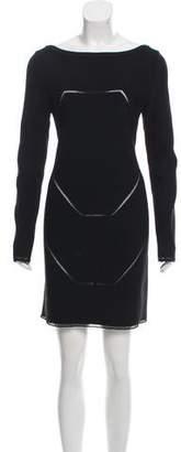 Alaia Long Sleeve Cutout Dress