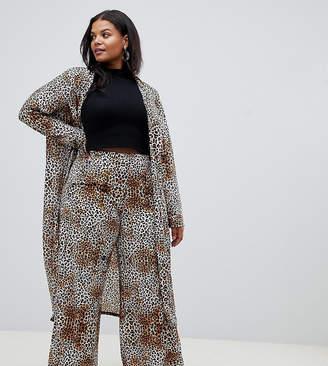 Pink Clove wide leg pants in leopard two-piece