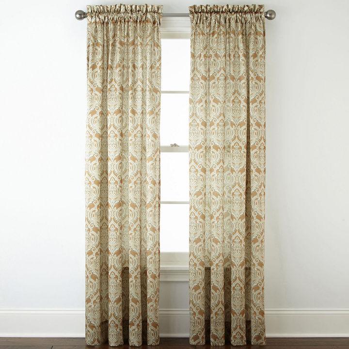 Royal Velvet Hilton Damask Rod Pocket Curtain Panel Shopstyle