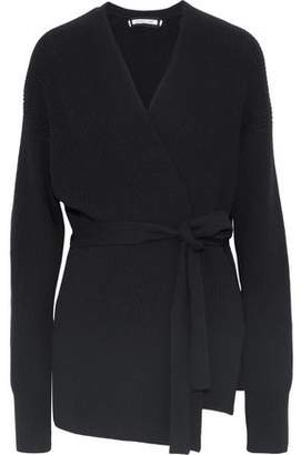 Helmut Lang Ribbed Wool And Cashmere-Blend Wrap Cardigan