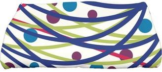 "E by Design Simply Daisy 28"" x 58"" Doodle Decorations Geometric Print Bath Towel"