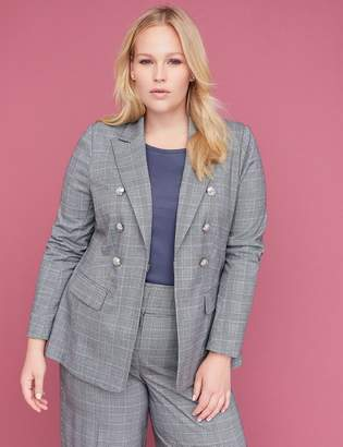 Lane Bryant Bryant Blazer - Double Breasted Plaid Tailored Stretch