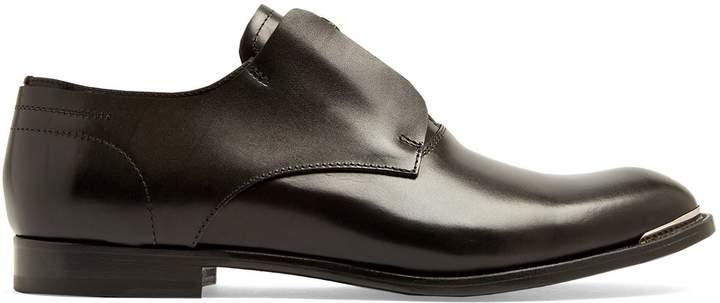 Alexander McQueen Zip-front leather derby shoes