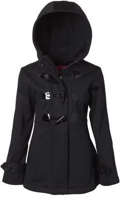 Pink Platinum Toggle Fleece Hooded Jacket (Little Girls)