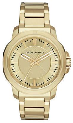 Armani Exchange Three-Hand Goldtone Ryder Watch