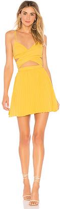 About Us Sharon Pleated Chiffon Dress