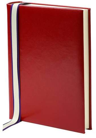 English Bridle Portrait Photo Album In Red With Cream Pages