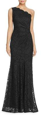Decode 1.8 Metallic Lace One-Shoulder Long Gown