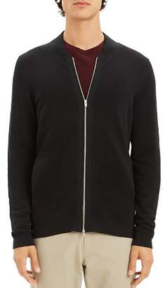 Theory Lievos Textured Zip Cardigan