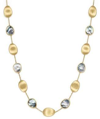 Marco Bicego 18K Yellow Gold Lunaria Black Mother-Of-Pearl Short Necklace, 16""