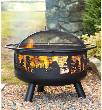 Plow & Hearth Steel Wood Burning Fire Pit