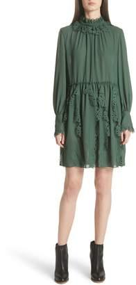 See by Chloe Eyelet Detail Dress