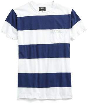 Todd Snyder Bold Stripe Tee in Blue