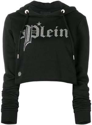 Philipp Plein gothic hooded sweatshirt