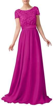 ThaliaDress Women Chiffon Lace Long Bridesmaid Prom Dress T230LF US