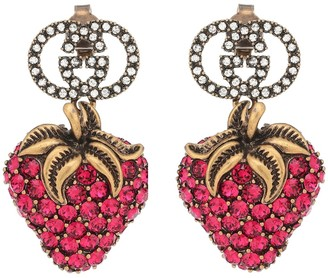 Gucci Strawberry crystal earrings